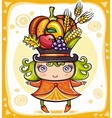 harvest girl vector image vector image