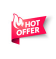 hot sale price offer banner hot deal label vector image vector image