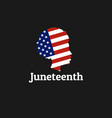 juneteenth freedom emancipation independence day vector image