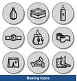 light boxing icons vector image vector image