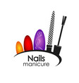 manicure design vector image vector image