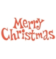 Merry Christmas text lettering vector image vector image
