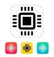 Mini CPU icon vector image vector image