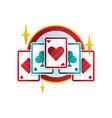 original logo design for casino or poker club with vector image