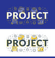 project flat line concept for web banner and vector image vector image