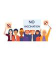 public demonstration against mandatory vaccination vector image