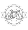racing bicycle emblem with ribbon vector image