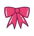 red gift box ribbon decoration vector image vector image