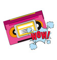 retro cassettes design vector image vector image