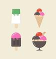 retro ice cream vector image vector image
