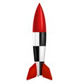 Rocket on white background vector image vector image