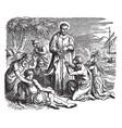 saint francis xavier on the coast at the vector image vector image
