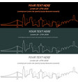 san francisco event banner hand drawn skyline vector image vector image