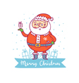 Santa Claus christmas greetings vector image vector image