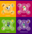 science chemical pharmaceutical concept banner set vector image