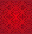 seamless damask pattern red background vector image vector image