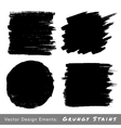 set hand drawn grunge backgrounds vector image vector image
