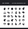 simple icons autism awareness day vector image vector image