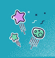 stars and meteorites in flat style vector image