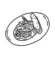 steak tartare icon doodle hand drawn or outline vector image vector image