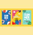 summer sale background layout bannersvoucher vector image vector image
