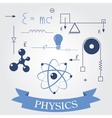 Symbols of physics vector image