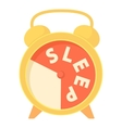 Time to sleep icon cartoon style vector image vector image