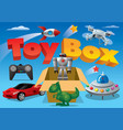 toy box for advertising vector image vector image