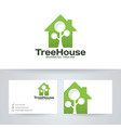 tree house logo design vector image vector image