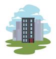urban buildings city vector image