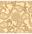 Vintage seamless paisley pattern vector image vector image