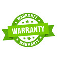 warranty ribbon warranty round green sign warranty vector image vector image