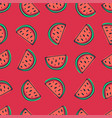 watermelon seamless pattern in sketchy style on vector image vector image