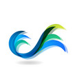 wavy sea water icon vector image vector image