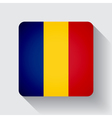 Web button with flag of Romania vector image