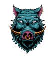 wild boar head vector image