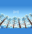 winter forest background with stylized trees vector image