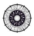 zodiacal circle vector image