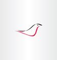red black stylized bird logo vector image