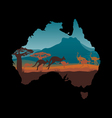 Australia travel design template vector image