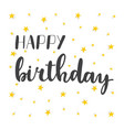 happy birthday greeting card greeting logotype vector image