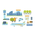 Airport Related Objects Set vector image