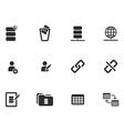 12 Web tool Icons vector image vector image