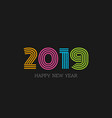 abstract 2019 happy new year background vector image vector image
