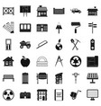 architecture equipment icons set simple style vector image vector image