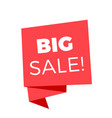 big sale red sale banner image vector image vector image