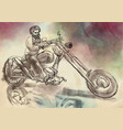 biker an hand drawn freehand vector image vector image