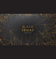 black friday sale abstract dark background with vector image vector image