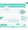 blank website vector image vector image