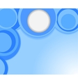 blue background with circles vector image